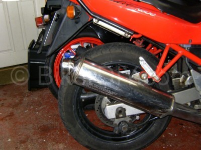 Bandit 600 stock endcan fitted
